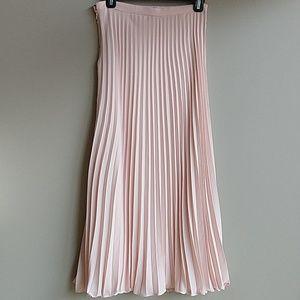 Blush accordion pleated maxi skirt